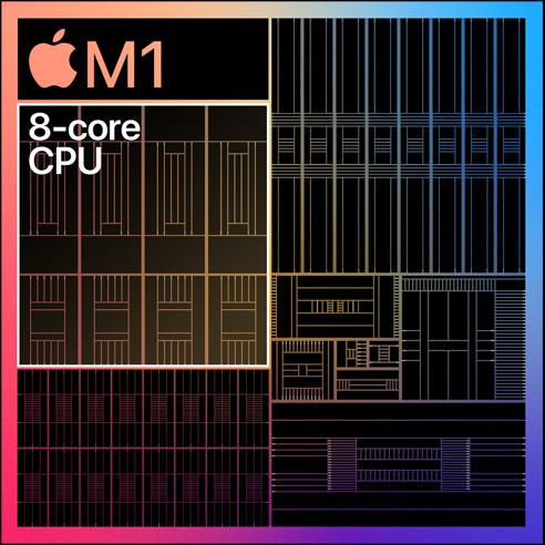 تراشه M1 - عملکرد گسترده پردازنده استفاده از کسری از توان