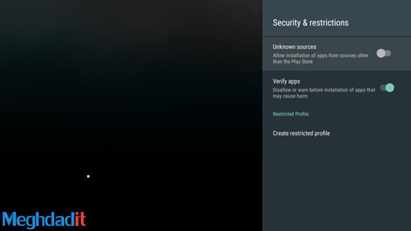 نصب اپلیکیشن روی Android TV